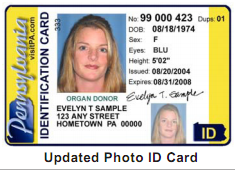PA Issued Photo ID card