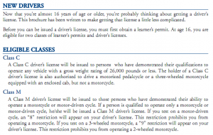 PennDOT new driver guidelines